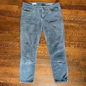 GAP 1969 Skinny Corduroy Cropped Pant Blue/Grey